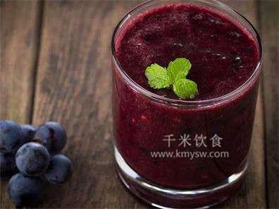 葡萄汁抗衰老真的很有效!---千米饮食网