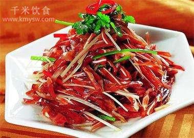 红油耳丝的做法及介绍---千米饮食网(www.kmysw.com)