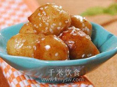 蜜汁洋芋丸子的做法及介绍---千米饮食网
