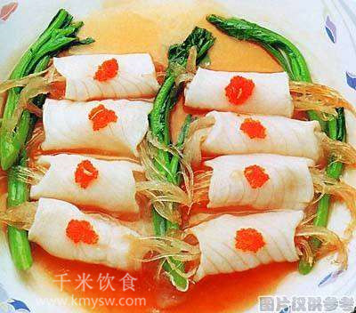 美人鱼翅卷的做法及介绍---千米饮食网