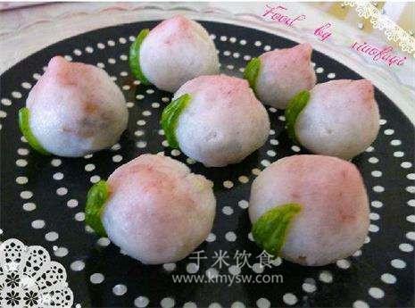 山药寿桃的做法及介绍---千米饮食网