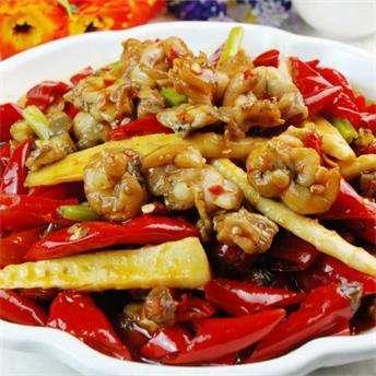菜芫炒田鸡腿的做法及介绍---千米饮食网