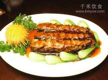 瓦块茄鱼的做法及介绍---千米饮食网(www.kmysw.com)