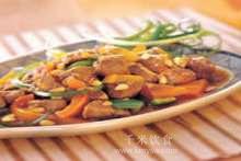 松子肉的做法及介绍---千米饮食网(www.kmysw.com)