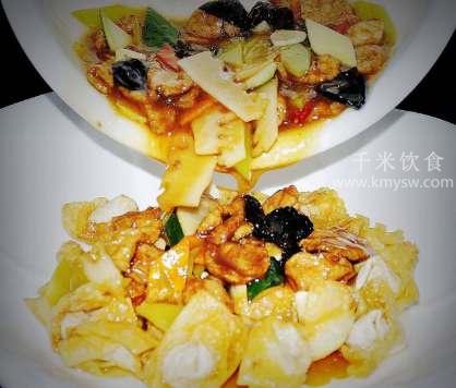 响铃肉片的做法及介绍---千米饮食网(www.kmysw.com)