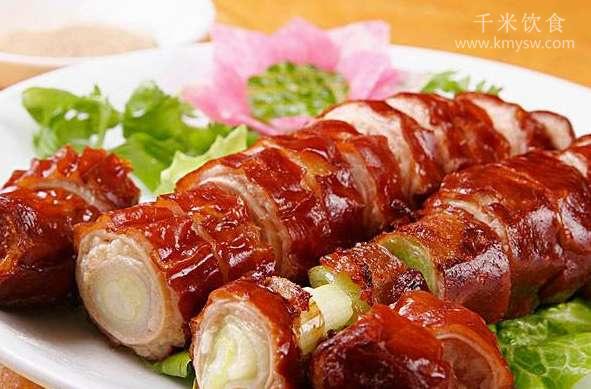 素九转肥肠的做法及介绍---千米饮食网(www.kmysw.com)