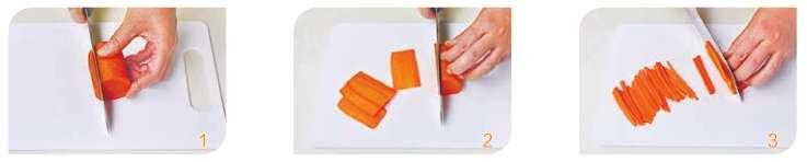 切条 (以胡萝卜为例)