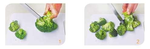 西蓝花(菜花)的切分法