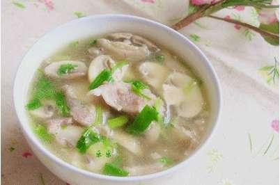 蘑菇肉片汤的做法,蘑菇肉片汤怎么做好吃