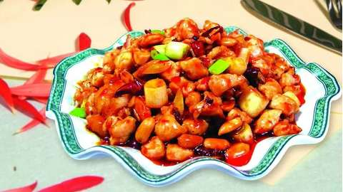 素食宫保鸡丁的做法及介绍---千米饮食网(www.kmysw.com)