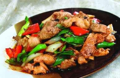盐煎肉的做法及介绍---千米饮食网(www.kmysw.com)