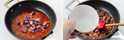麻婆茄子丼的做法步骤3
