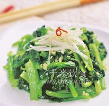 葱姜炝菜心的做法及介绍---千米饮食网