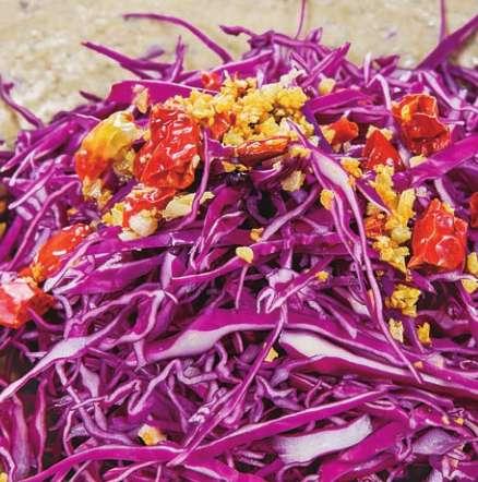 金蒜紫甘蓝的做法及介绍---千米饮食网