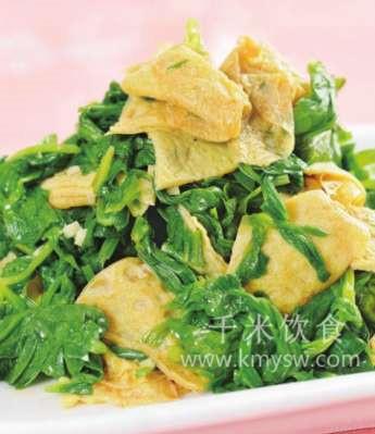 凉拌芹菜叶的做法及介绍---千米饮食网