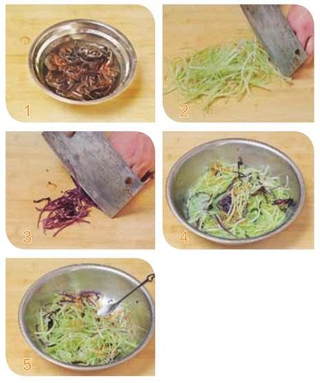 爽口五彩芹丝的做法及介绍---千米饮食网