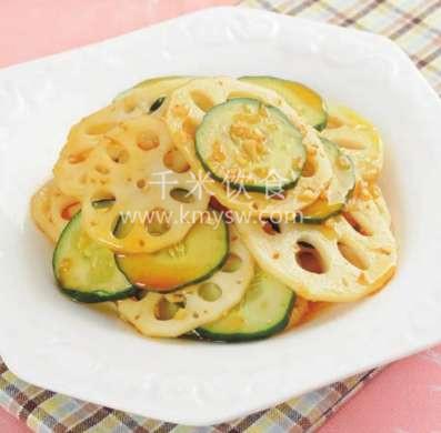 蒜油藕片的做法及介绍---千米饮食网