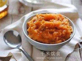 鲜红薯泥的做法及介绍---千米饮食网