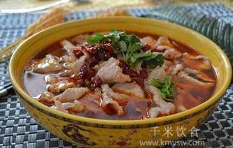 水煮肉片的做法及介绍---千米饮食网(www.kmysw.com)