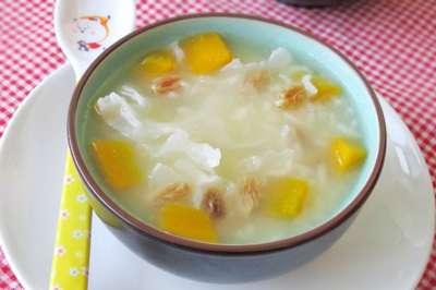 银耳南瓜粥的做法及介绍---千米饮食网