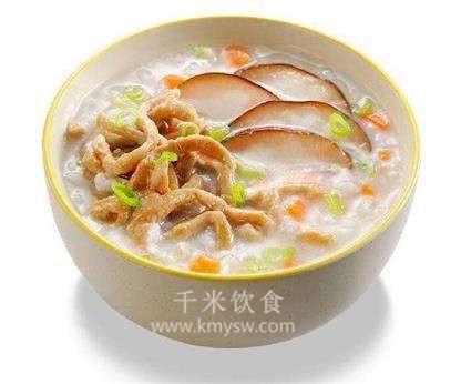 香菇芋头粥的做法及介绍---千米饮食网(www.kmysw.com)