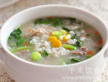 蔬菜粥的做法及介绍---千米饮食网(www.kmysw.com)