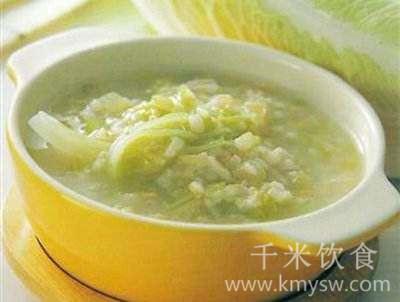 白菜粥的做法及介绍---千米饮食网