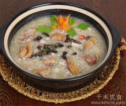 鸭肉粥的做法及介绍---千米饮食网