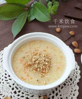 牛奶杏仁粥的做法及介绍---千米饮食网