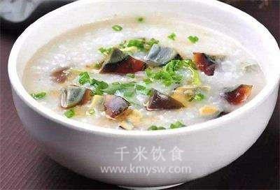 皮蛋瘦肉菜粥的做法及介绍---千米饮食网