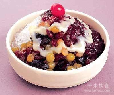 """水果冰粥美丽""""冻""""人---千米饮食网"""