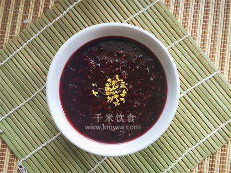 黑芝麻糯米粥的做法及介绍---千米饮食网