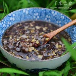 黑芝麻糙米粥的做法及介绍---千米饮食网