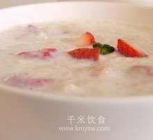 草莓麦片粥的做法及介绍---千米饮食网