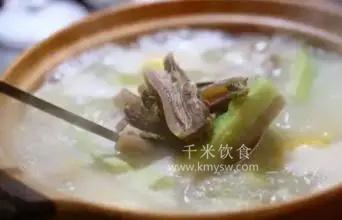 羊腩苦瓜粥的做法及介绍---千米饮食网(www.kmysw.com)