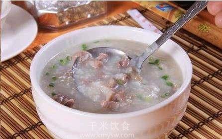 羊肝粥的做法及介绍---千米饮食网(www.kmysw.com)