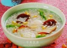 鸽蛋菜心粥的做法及介绍---千米饮食网(www.kmysw.com)