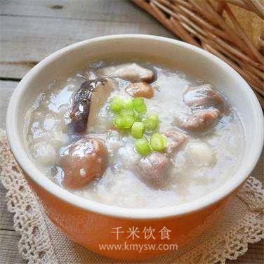 板栗牛腩粥的做法及介绍---千米饮食网(www.kmysw.com)