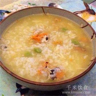 酸辣粥的做法及介绍---千米饮食网(www.kmysw.com)